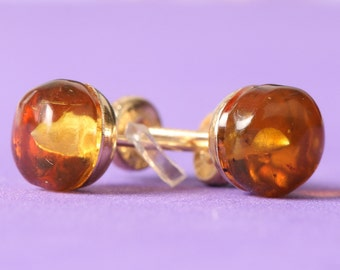 GIRLS stone EARRINGS amber