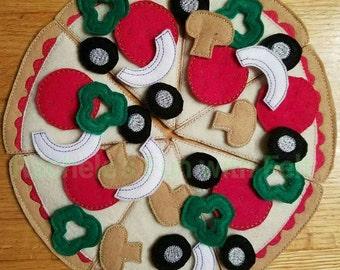 Felt Pizza set, Pretend play fun