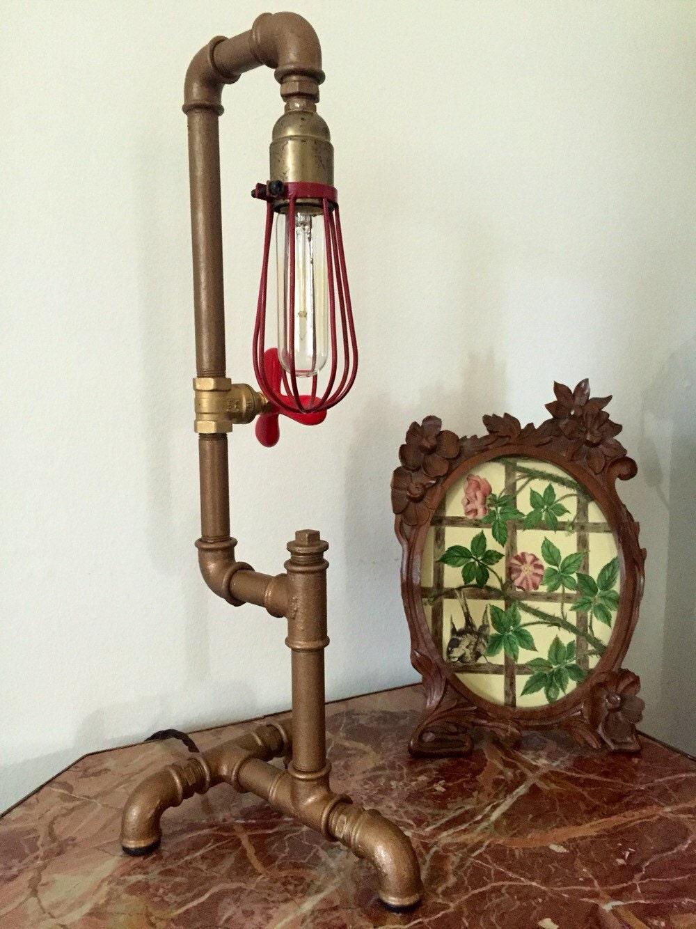 Lampada stile steampunk da tavolo scrivania di for Scrivania stile industriale
