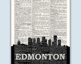 Edmonton Skyline, Edmonton Poster, Edmonton Decor, Edmonton Print, Edmonton Wall Art, Edmonton Gift, Edmonton Wall Decor, Edmonton  Canada