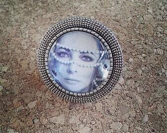 Elizabeth Taylor antique silver ring
