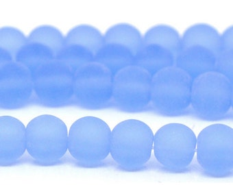 Light Blue Frosted Beads