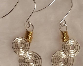 Celtic swirl earrings