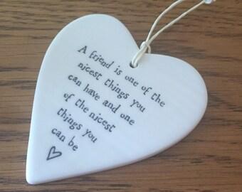 Friend porcelian heart