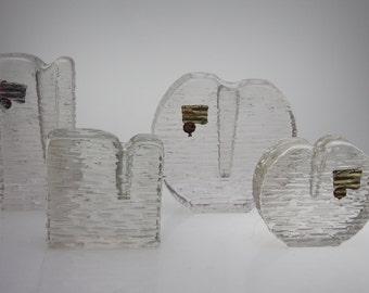 4 Solifleur Vases by Marsberger Bubble Blockvase Budvase stemvase