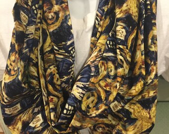 Doctor Who Exploding Tardis Cotton Fabric Handmade Infinity Scarf