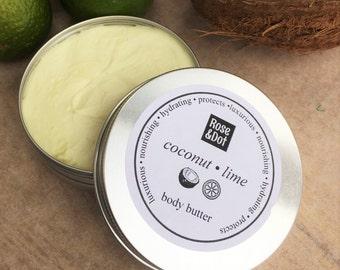 Coconut Lime Body Butter - Handmade - 100% Natural - 100ml