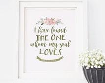 Song Of Solomon 3:4, Bible Verse Wall Art, Verse Wall Art, Wedding Art, Wedding Bible Verse, Marriage Bible Verse, Verse Art, Love Verse