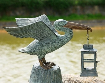 Outdoor Pelican Candle Lantern