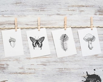 Realistic Nature Lover's Lined Drawing Pack