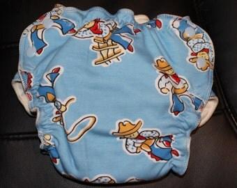 Cowboy Medium Fitted Diaper