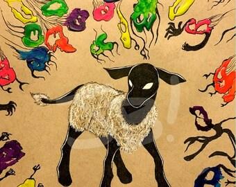 Lamb Ghosts Print