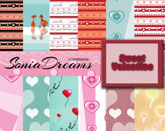 Digital paper Sweet Valentine