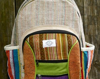 Vibrant Hemp backpack; PureHemp Co.
