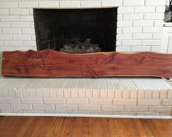 Eastern Red Cedar Mantel