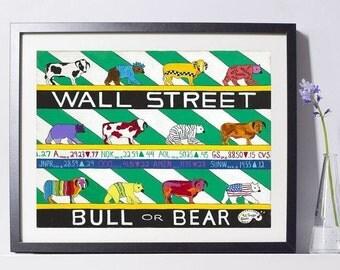 Wall Street Art Painting PSNY - Home Decor