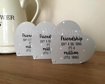 10cm Freestanding Friendship Heart