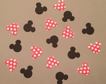 200 Minnie Mouse Confetti Minnie Mouse Disney Confetti Minnie Mouse Birthday Confetti MinnieMouse Baby Shower Confetti Minnie Mouse Decor