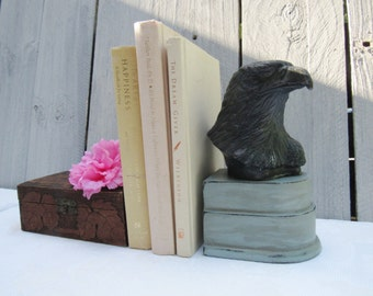 American Eagle Book End, Patriotic Bookend, Duck Egg Blue Shabby Chic bookend, American History themed decor, Eagle decor, book holder