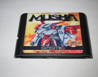 Musha fan made reproduction cartridge M.U.S.H.A. repro Sega Genesis