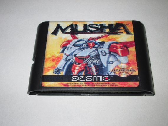 Musha Sega Genesis Fan Made Cartridge M U S H A Repro