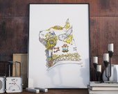 "Mechanical Clockwork Kitty - Steam Punk Art 8x10"" Printable Poster Download"