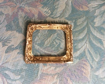 Antique Victorian Frame Insert, Rolled Gold