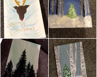 Custom painted cards