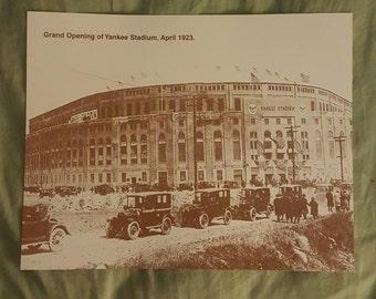 """Opening of  Yankee Stadium 23"""" 11x14 print"""