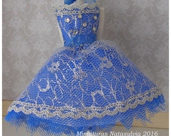 Dress in miniature scale 1:12. Collection Haute Couture