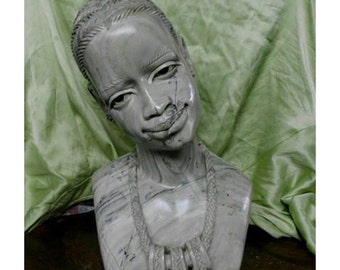 """African Sculpture -''The plight of a village girl"""""""