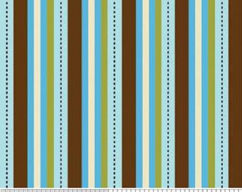 "Riley Blake designs  ""Pirates"" Stripe in Blue  Cotton Fabric  By Emily Taylor BTY"