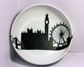 Hand Painted London Skyline Bowl