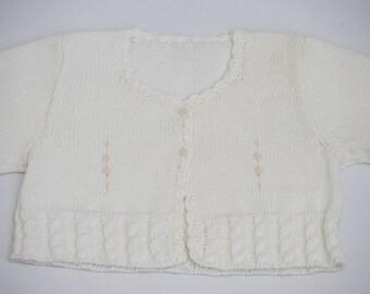 KNIT SWEATER ORGANIC pima cotton (sweater in baby woven organic cotton)