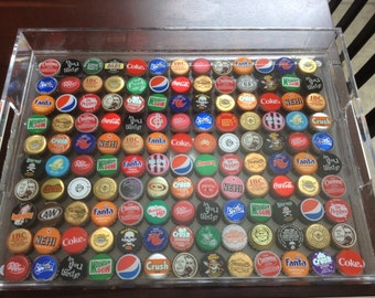 Clear Soda Cap Serving Tray