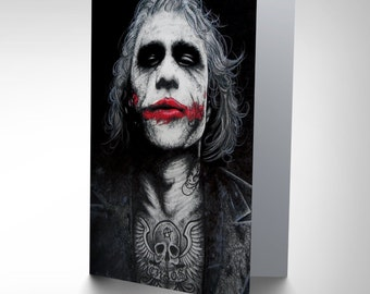 Joker Card - Batman Tattoo Inked Icons Art by Wayne Maguire Blank Card CP2921