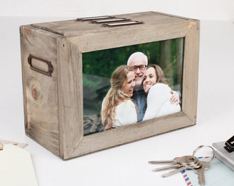 Photo Storage Gift Idea, Wooden, Holds 48 Photo's