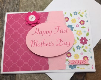 Happy First Mother's Day Card, First Mother's Day Card, First Mother's Day, Happy Mother's Day Card, Mother's Day Card, Card for New Mom