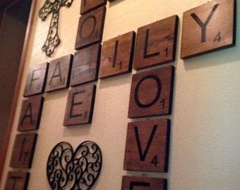 4x4 Wooden Lettered Tiles