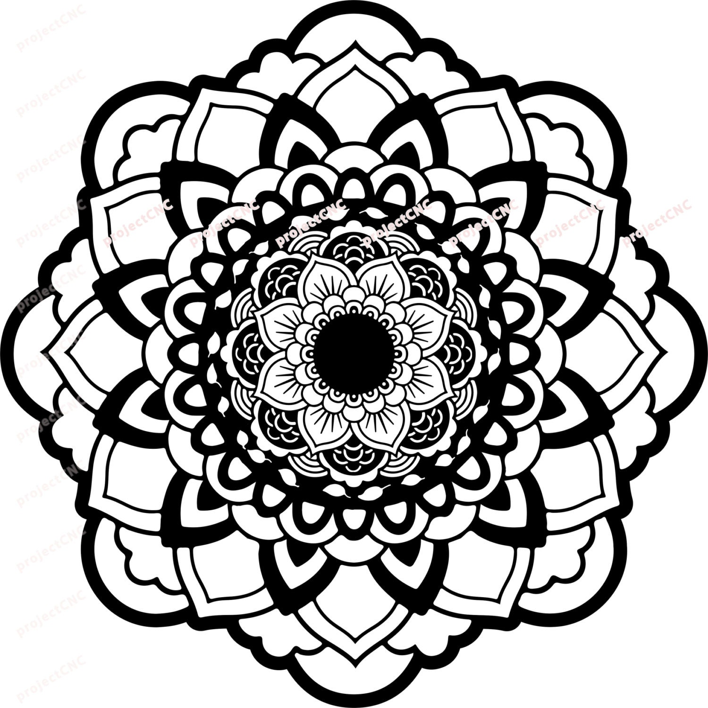 Download Mandala symbol Cutting File Svg Dxf Cricut Silhouette Software