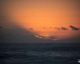 Pescadero Glow - Pacific Ocean Sunset California Coast - Fine Art Print - 8x10 11x16, Landscape Photograph