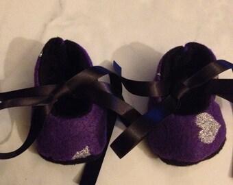 Purple Felt Shoes