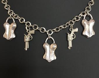 Corsets & Guns Necklace