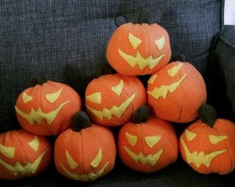 Plushie Pumpkin Bomb from Spider-man's Green Goblin, stuffed animal pumpkin