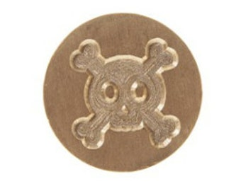 Skull and Crossbones Graphic Letter Seal