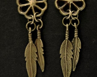 Sterling Silver Native American Navajo Earrings