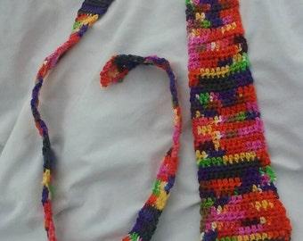 Crochet necktie