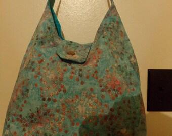 Aqua batik purse