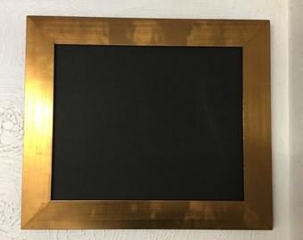 Bronze & Black Framed Blackboard/ Chalkboard