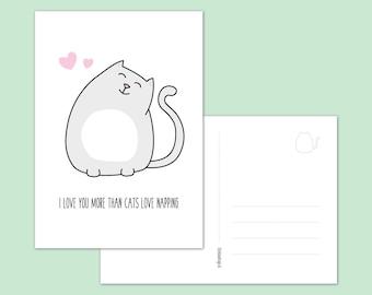 Postcard, kitty love